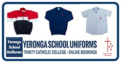 Press Here For :- Trinity Catholic College Uniform Fitting Appointments